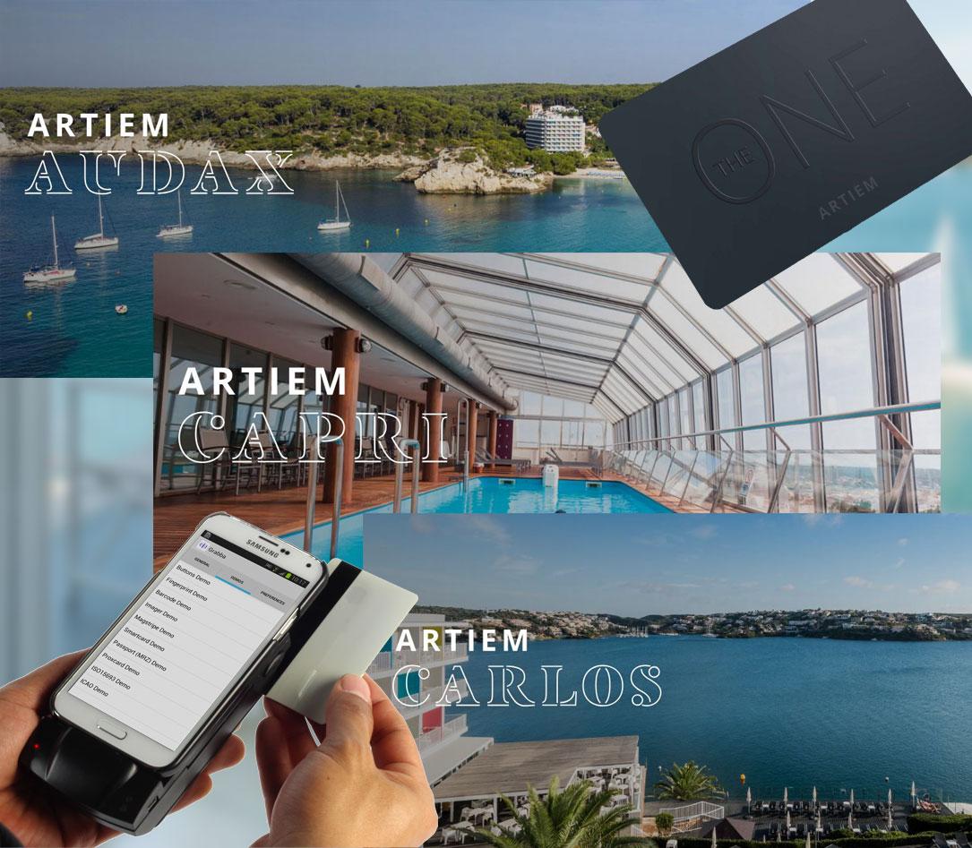 La cadena de hoteles Artiem Hotels utiliza nuestros lectores de banda magnética para móviles Android en su sistema de fidelización