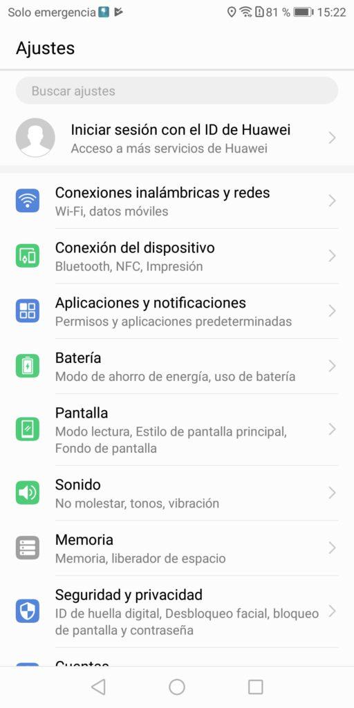 Huawei omision optimizacion bateria 1-Ajustes