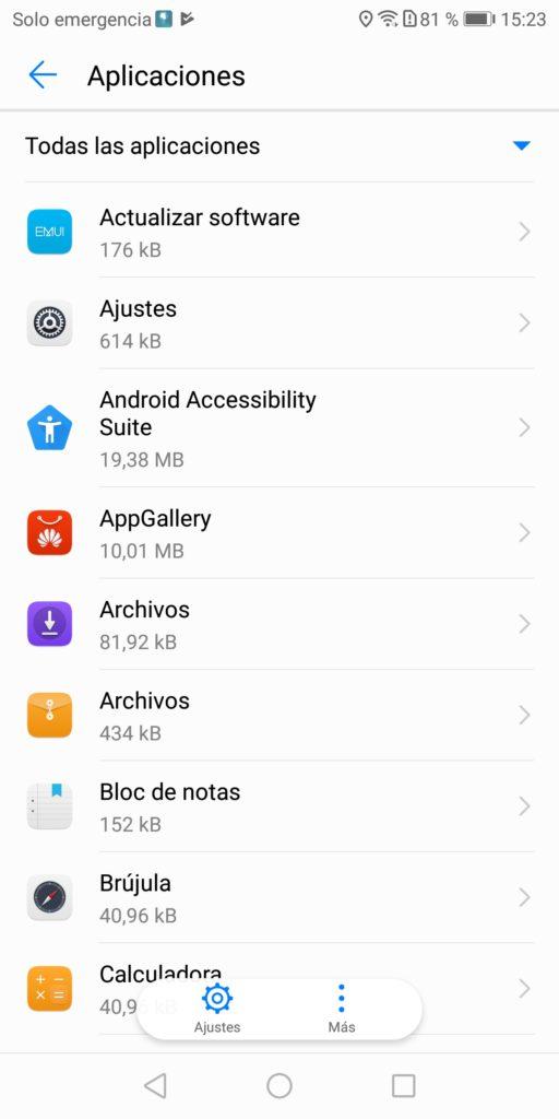 Huawei omision optimizacion bateria 3 Aplicaciones