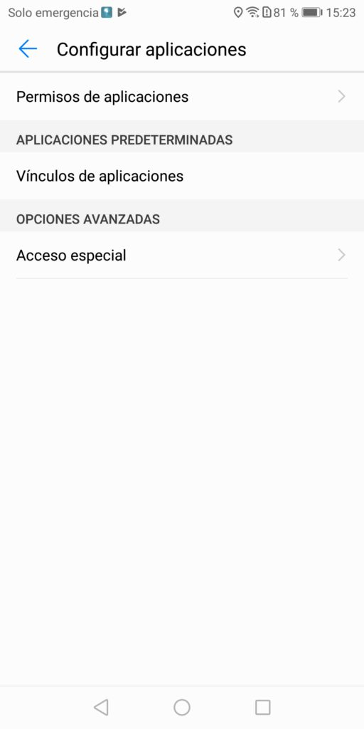 Huawei omision optimizacion bateria 4 Ajustes Acceso especial