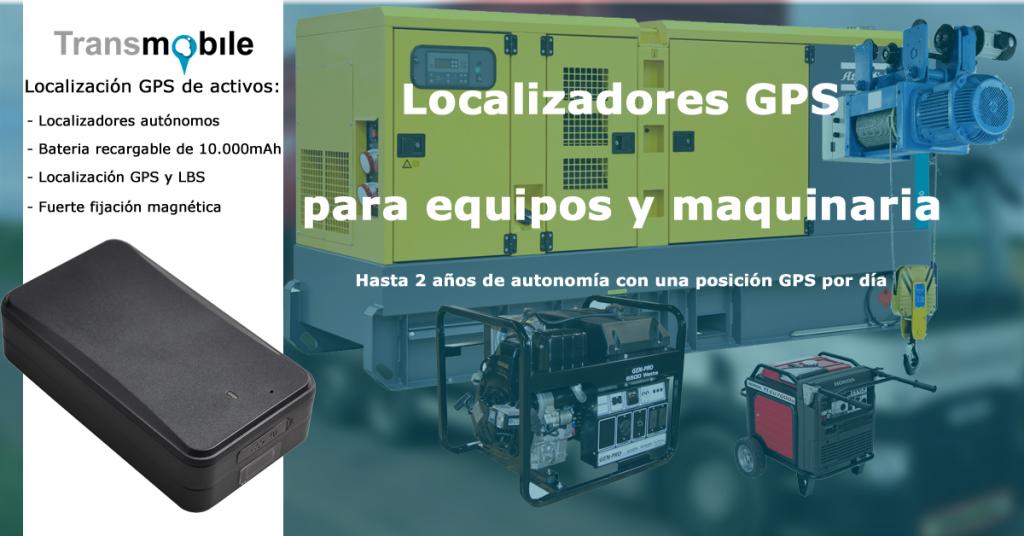 Localización GPS de activos, equipos y maquinaria