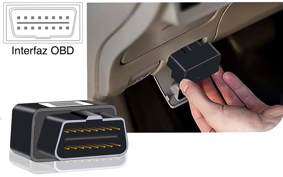 Localizador GPS para vehículos con conexión al puerto OBD